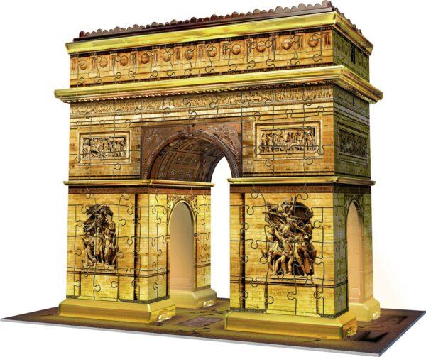 Arco di Trionfo - Puzzle 3D Building Night Edition Ravensburger 12522 - Ravensburger Puzzle 3d - Toys Center ALTRI Unisex 12+ Anni, 8-12 Anni RAVENSBURGER PUZZLE 3D