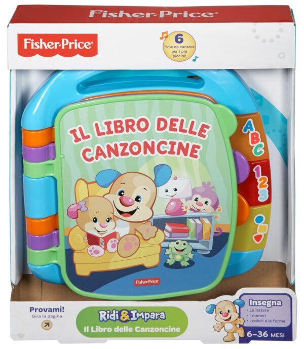 Fisher Price- Libro delle Canzoncine Ridi e Impara, Imparare Parole, Lettere e Numeri, Bambini dai 6 Mesi  Unisex FISHER-PRICE ALTRI