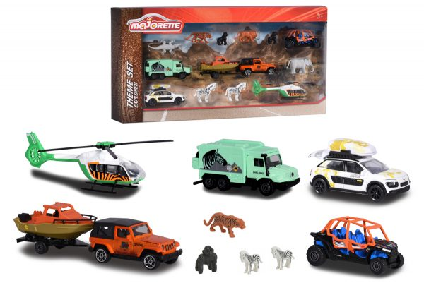Majorette Explorer playset, 6 veicoli 7 animali. In scatola vetrina - Majorette - Toys Center MAJORETTE Maschio 12-36 Mesi, 12+ Anni, 3-5 Anni, 5-8 Anni, 8-12 Anni ALTRI