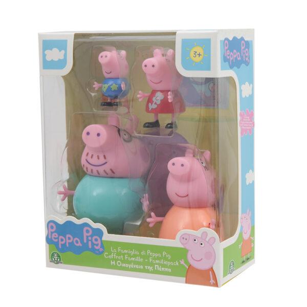 Giochi Preziosi - Peppa Pig set Famiglia con 4 personaggi PEPPA PIG Unisex 12-36 Mesi, 3-5 Anni, 5-8 Anni PEPPA PIG