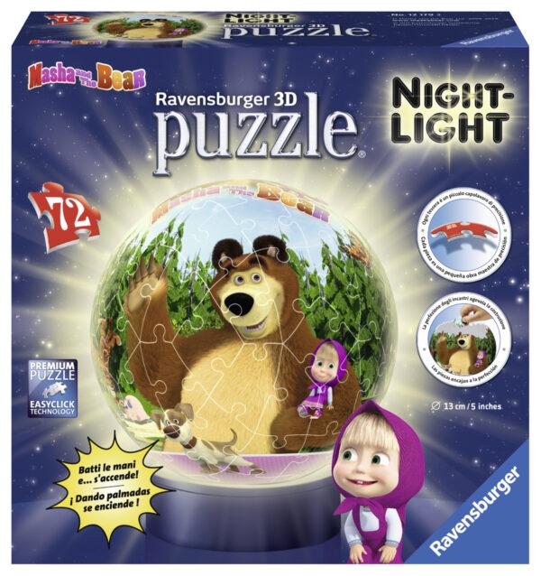 Lampada Notturna: Masha e l'Orso - Altro - Toys Center - ALTRO - Estate