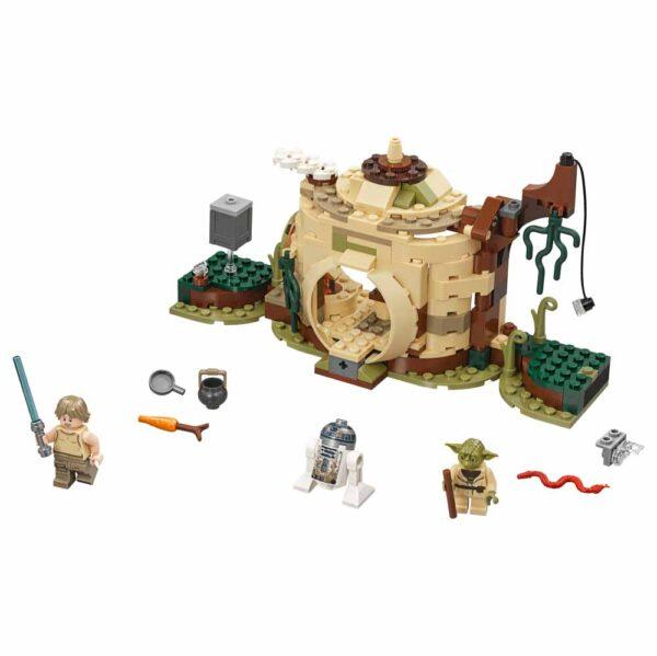 Disney Star Wars 75208 - Il rifugio di Yoda - Best Seller Disney - DISNEY - Marche Unisex 12+ Anni, 5-8 Anni, 8-12 Anni