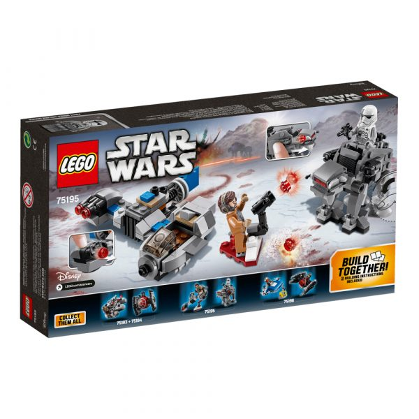 75195 - Ski Speeder™ contro Microfighter First Order Walker™ - Disney - Toys Center Star Wars Maschio 12+ Anni, 5-8 Anni, 8-12 Anni Disney