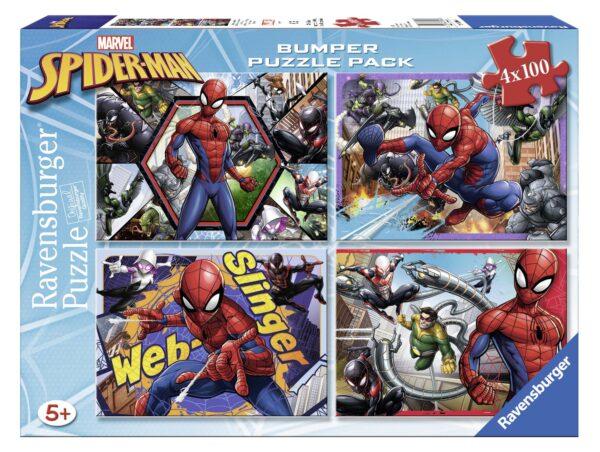 Bumper Pack 4x100 - Spiderman - Altro - Toys Center - ALTRO - Puzzle per bambini