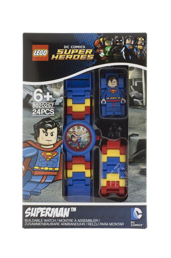 OROLOGIO LEGO SUPER HEROES SUPERMAN - Licenza Lego - LEGO - Marche SUPERMAN Unisex 12+ Anni, 5-8 Anni, 8-12 Anni DC COMICS