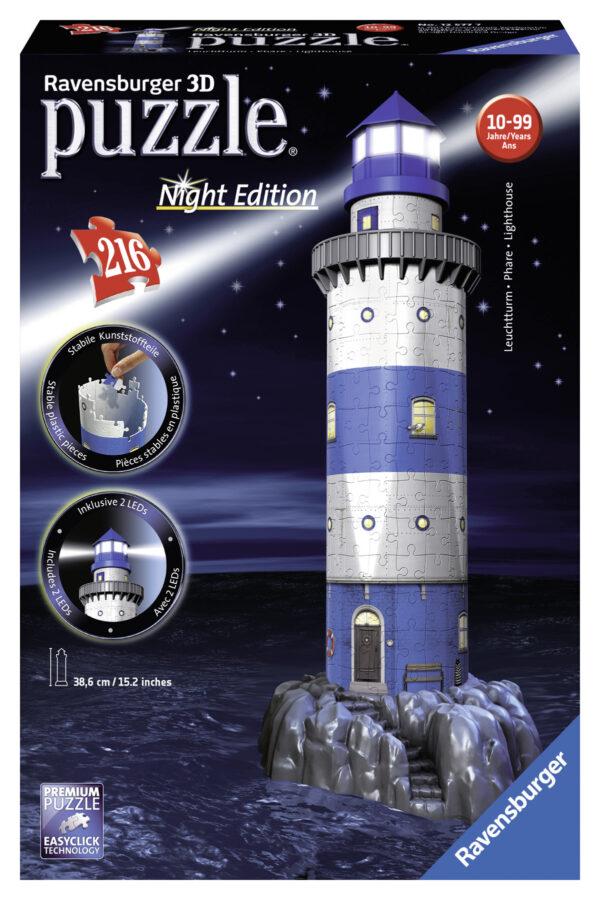 Puzzle 3D Faro Night Edition - Ravensburger Puzzle 3d - Toys Center - RAVENSBURGER PUZZLE 3D - Puzzle 3D