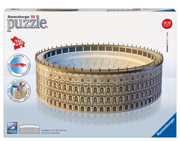 Puzzle 3D Colosseo - Ravensburger Puzzle 3d - Toys Center RAVENSBURGER PUZZLE 3D Unisex 12+ Anni, 8-12 Anni ALTRI