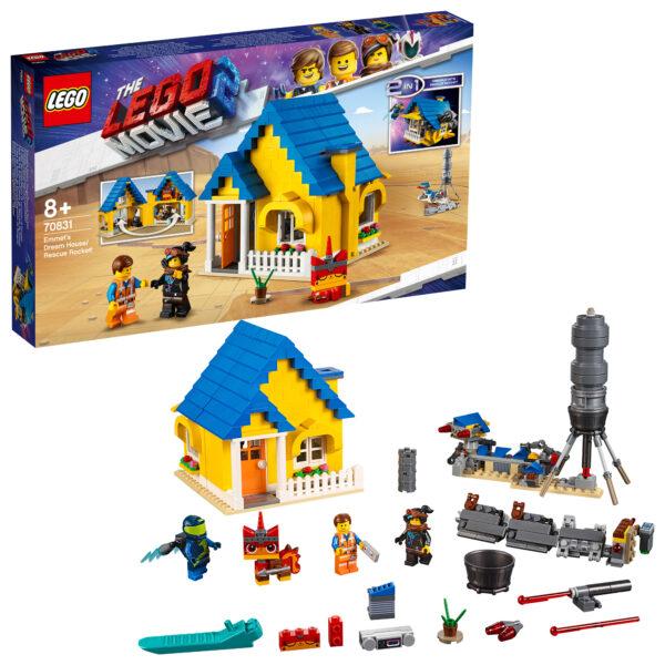 70831 - La casa dei sogni/Razzo di soccorso di Emmet! ALTRO Unisex 12+ Anni, 5-8 Anni, 8-12 Anni THE LEGO MOVIE 2
