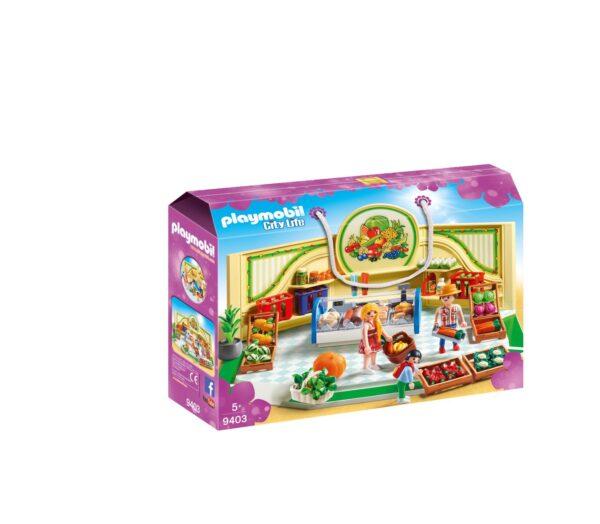 NEGOZIO DI ALIMENTARI BIO - Playmobil - City Life - Toys Center Playmobil City Life Femmina 12+ Anni, 3-5 Anni, 5-8 Anni, 8-12 Anni ALTRI