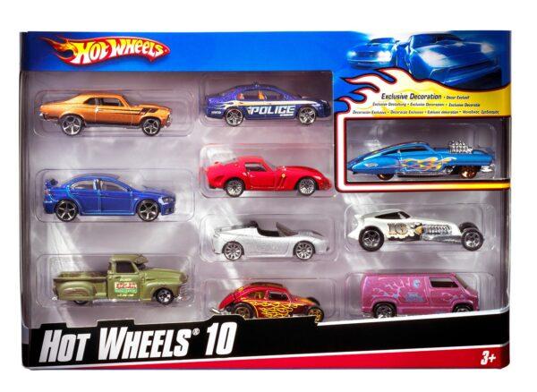 Hot Wheels-54886-CONFEZIONE 10 VEICOLI Hot Wheels Maschio 12-36 Mesi, 3-4 Anni, 3-5 Anni, 5-7 Anni, 5-8 Anni ALTRI