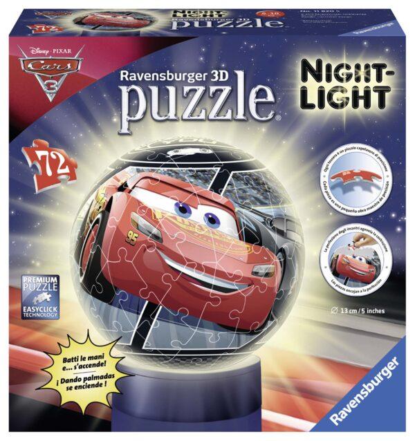 3D Puzzle Lampada Notturna - Cars 3 - Altro - Toys Center ALTRO Unisex 5-8 Anni, 8-12 Anni CARS