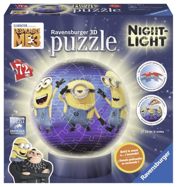 3D Puzzle Lampada Notturna - Cattivissimo Me 3 - ALTRO - Puzzle 3D
