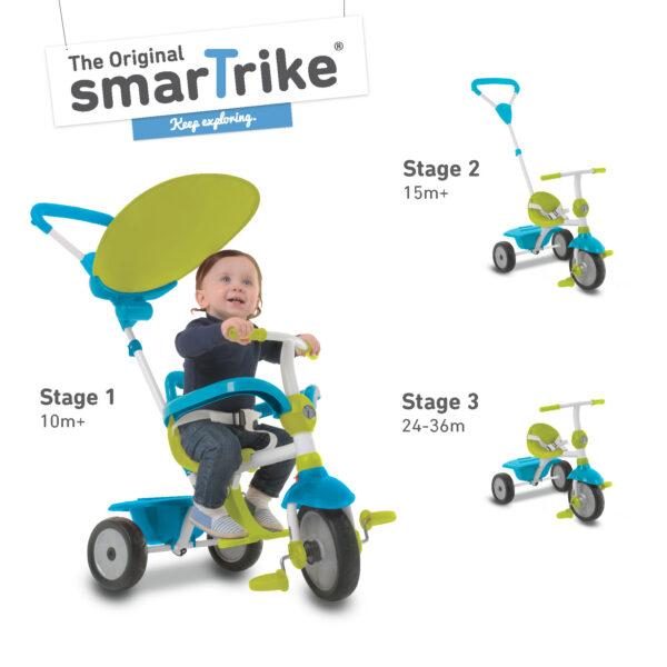SMART TRIKE ZIP BLU - SMART TRIKE - Marche SMART TRIKE Maschio 0-12 Mesi, 12-36 Mesi, 3-5 Anni ALTRI