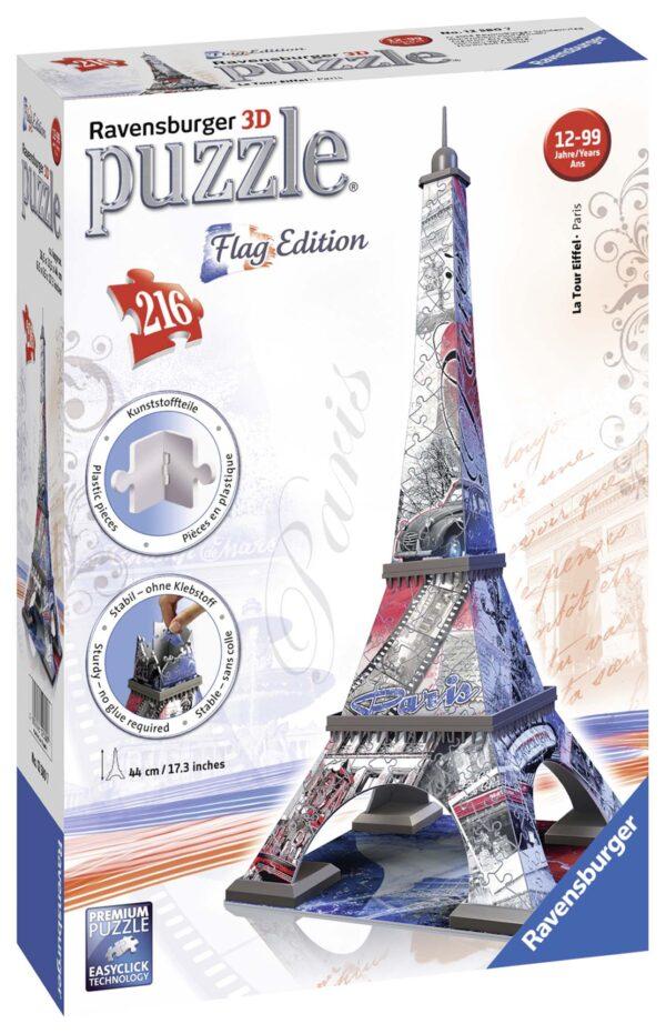3D Flag edition: Tour Eiffel - Ravensburger Puzzle 3d - Toys Center RAVENSBURGER PUZZLE 3D Unisex 12+ Anni, 8-12 Anni ALTRI