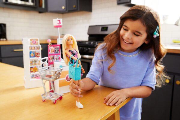 ALTRI Barbie - negozio di alimentari Barbie 12-36 Mesi, 12+ Anni, 3-5 Anni, 5-8 Anni, 8-12 Anni Femmina