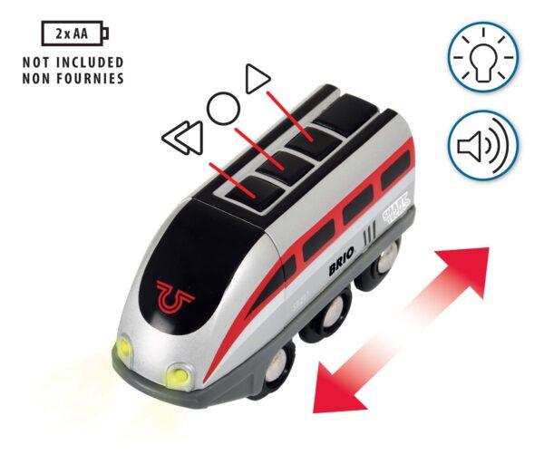 BRIO SET FERROVIA ALTRI BRIO Smart Tech Set Locomotiva intelligente con tunnel - Brio Set Ferrovia - Toys Center Unisex 12-36 Mesi, 3-5 Anni, 5-8 Anni, 8-12 Anni