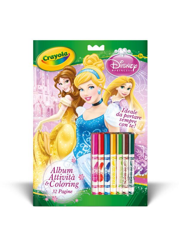 Album Attività&Coloring Disney Principesse - BINNEY & SMITH - Marche CRAYOLA Femmina  PRINCIPESSE DISNEY