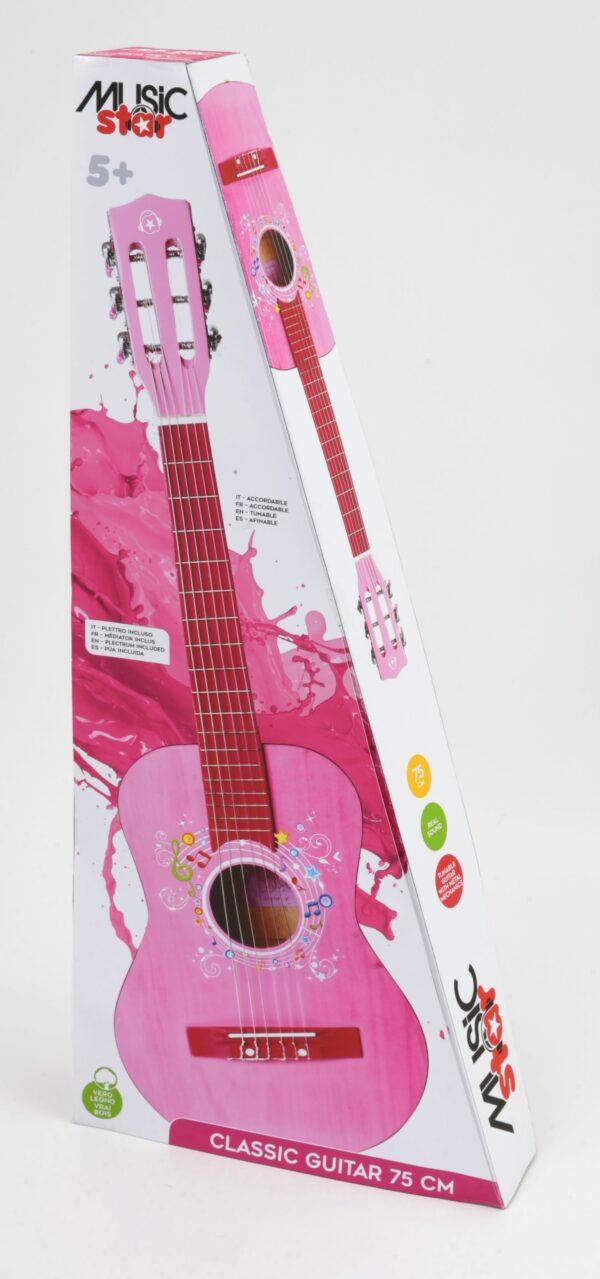 MUSIC STAR Chitarra in legno girl 75 cm MUSIC STAR Femmina 3-5 Anni, 5-7 Anni, 5-8 Anni, 8-12 Anni MUSICSTAR