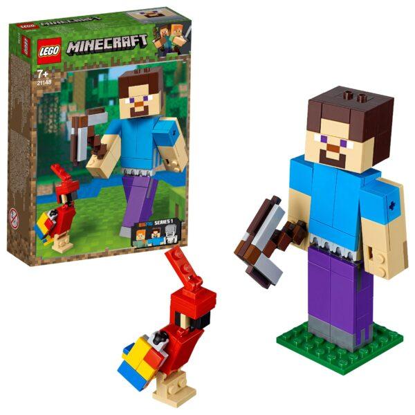21148 - Maxi-figure Minecraft di Steve con pappagallo - Minecraft - Toys Center MINECRAFT Unisex 12+ Anni, 5-8 Anni, 8-12 Anni ALTRI