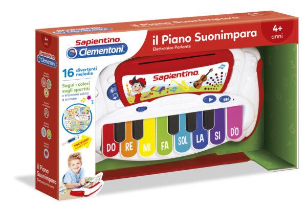CLEMENTONI - Il Piano SuonaImpara ALTRI Unisex 0-12 Mesi, 12-36 Mesi, 3-5 Anni, 5-8 Anni SAPIENTINO