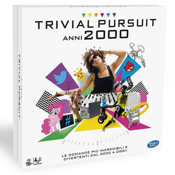Trivial Pursuit 2000 - Hasbro Gaming - Toys Center HASBRO GAMING Unisex 12+ Anni, 5-8 Anni, 8-12 Anni ALTRI