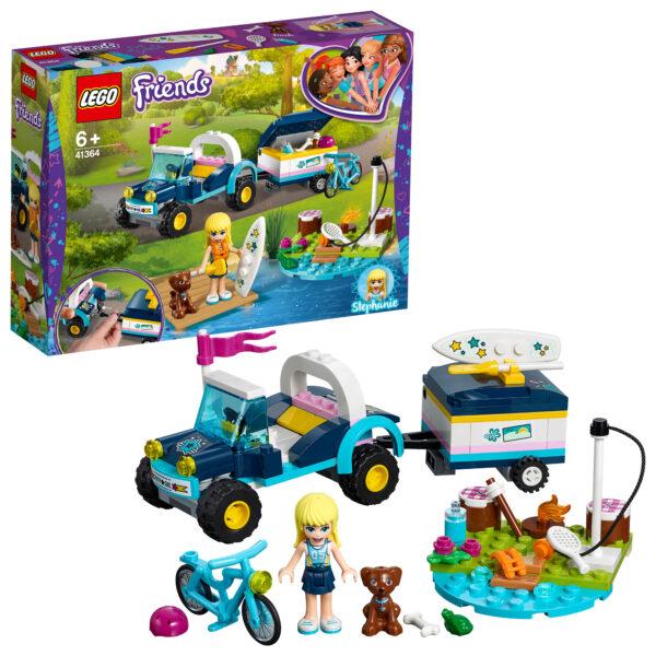 LEGO Friends - Il buggy con rimorchio di Stephanie - 41364 LEGO FRIENDS Unisex 12+ Anni, 5-8 Anni, 8-12 Anni ALTRI