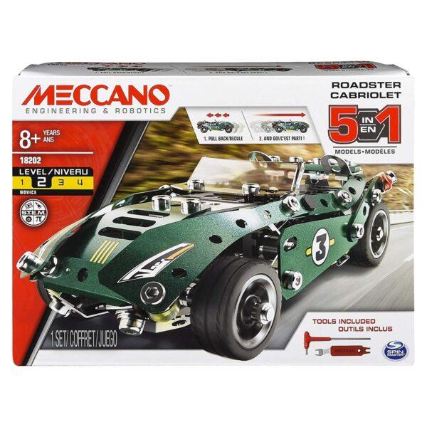 MECCANO Multi Modello da 5 - Macchina da Corsa Maschio 12+ Anni, 8-12 Anni ALTRI Spin Master