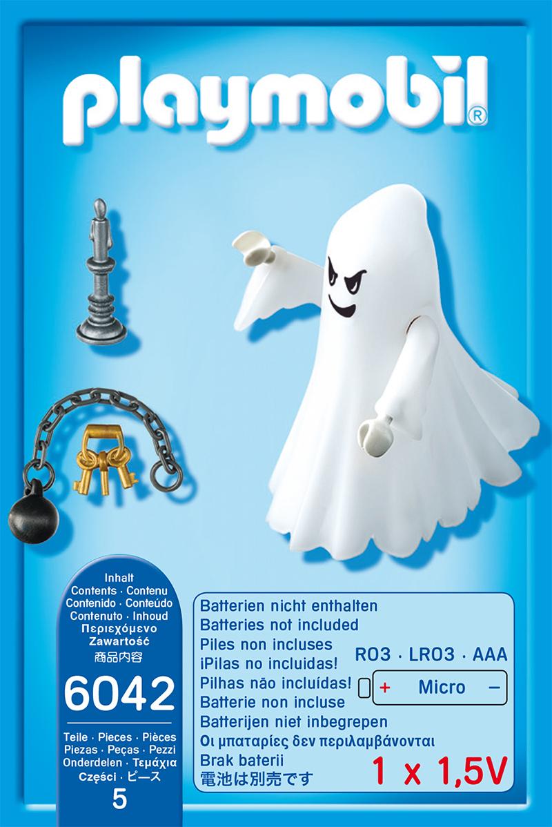 PLAYMOBIL 6042 castello fantasma con LED ARCOBALENO