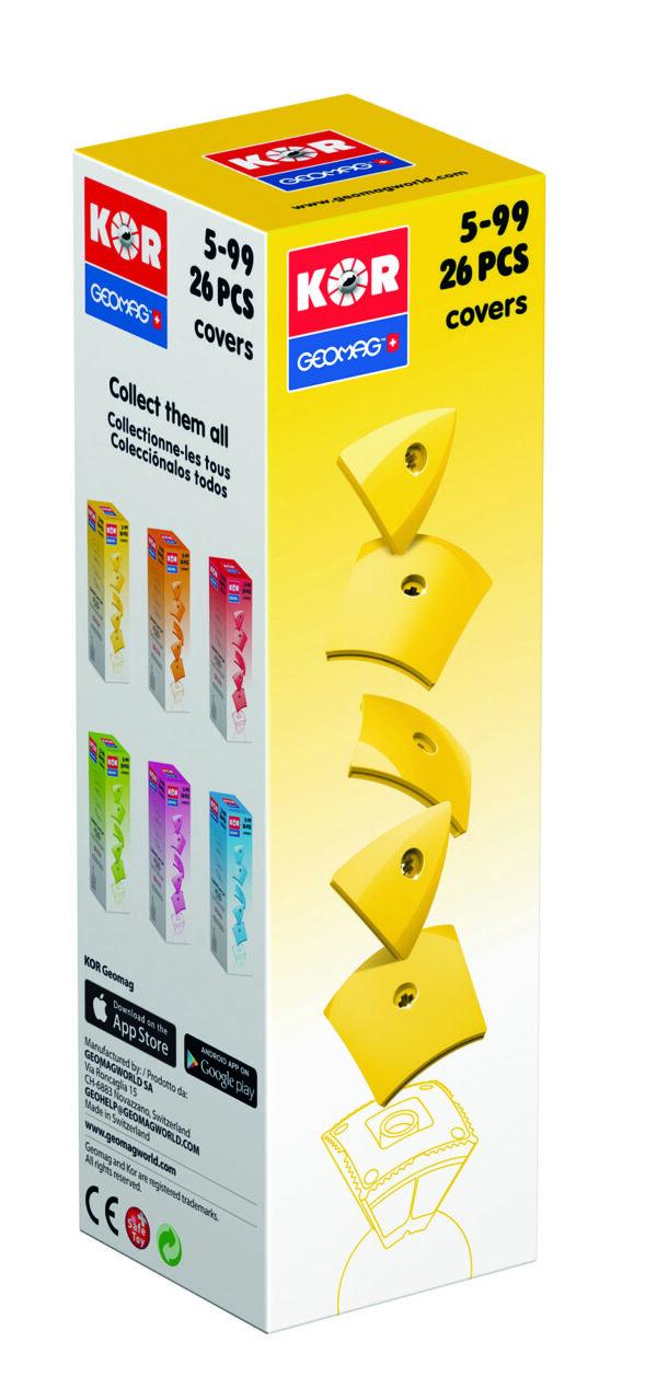 KOR Color Cover Yellow - GEOMAGWORLD - Marche KOR Unisex 3-5 Anni, 5-7 Anni, 5-8 Anni, 8-12 Anni ALTRI