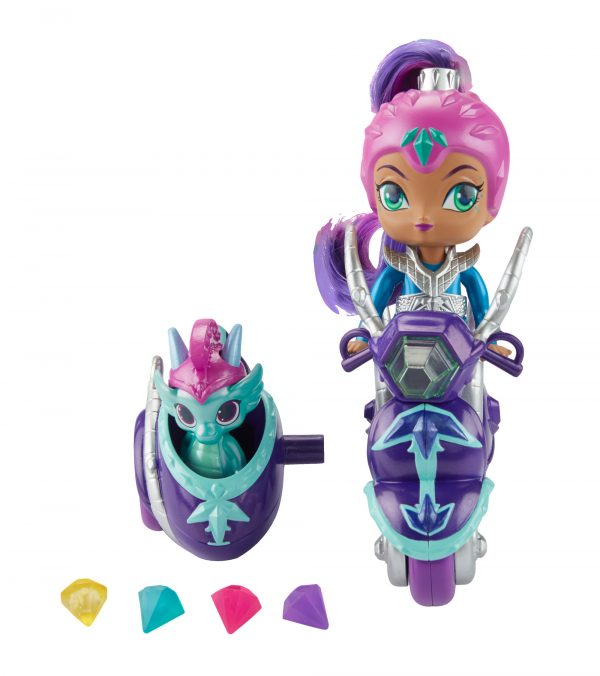 Shimmer & Shine - Scooter di Zeta, grande bambola di Zeta con scooter e Nazboo 3+ anni - FHN31 SHIMMER & SHINE Femmina 12-36 Mesi, 12+ Anni, 3-5 Anni, 5-8 Anni, 8-12 Anni ALTRO