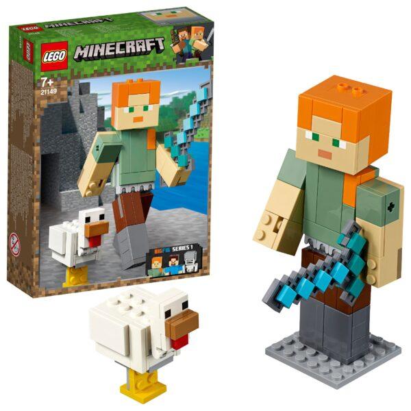 21149 - Maxi-figure Minecraft di Alex con gallina - Minecraft - Toys Center - MINECRAFT - Costruzioni