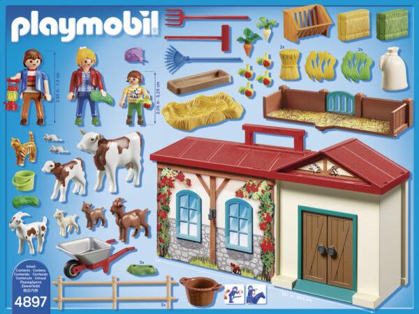 LIM.ED. FATTORIA PORTATILE - Playmobil - Country - Toys Center ALTRI Unisex 3-4 Anni, 5-7 Anni, 8-12 Anni PLAYMOBIL - COUNTRY