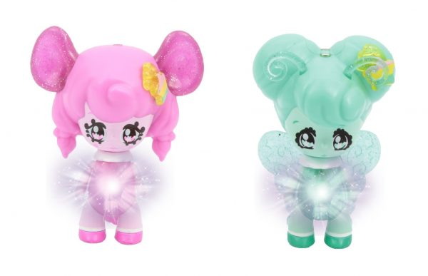 Glimmies Rainbow Friends Blister doppio, Flora & Mousy ALTRI Femmina 12-36 Mesi, 3-5 Anni, 5-8 Anni GLIMMIES