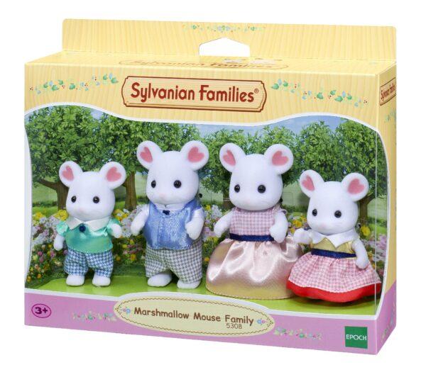 Sylvanian Families - Marshmallow - Famiglia Topolini Bianchi SYLVANIAN FAMILIES Unisex 12-36 Mesi, 12+ Anni, 8-12 Anni ALTRI