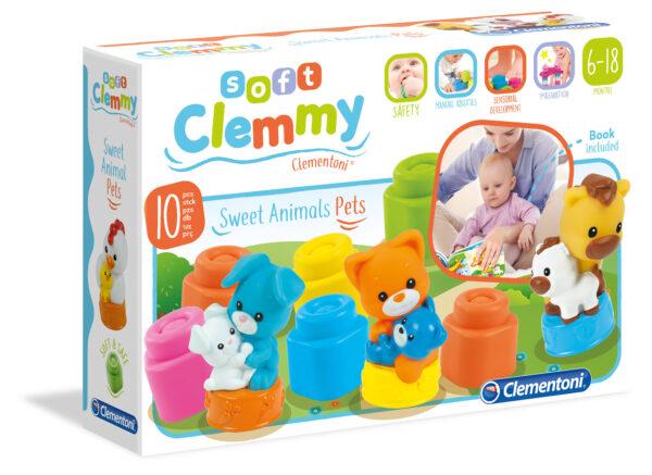 Clementoni - 17175 - CLEMMY Mamma Cuccioli Casa CLEMMY Unisex 0-2 Anni ALTRI