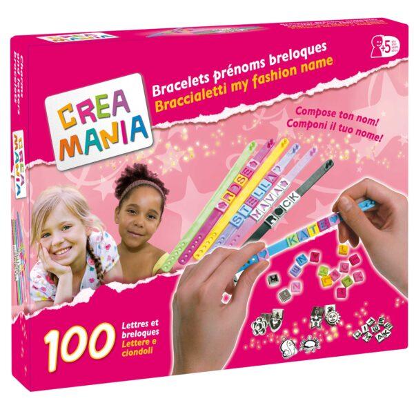 CREAMANIA Crea braccialetti lettere, numeri e decorazioni CREAMANIA GIRL Femmina 3-5 Anni, 5-7 Anni, 5-8 Anni, 8-12 Anni ALTRI
