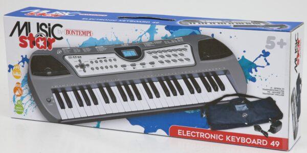 Tastiera scuola 49 tasti MUSICSTAR Unisex 12+ Anni, 3-5 Anni, 8-12 Anni MUSICSTAR BONTEMPI