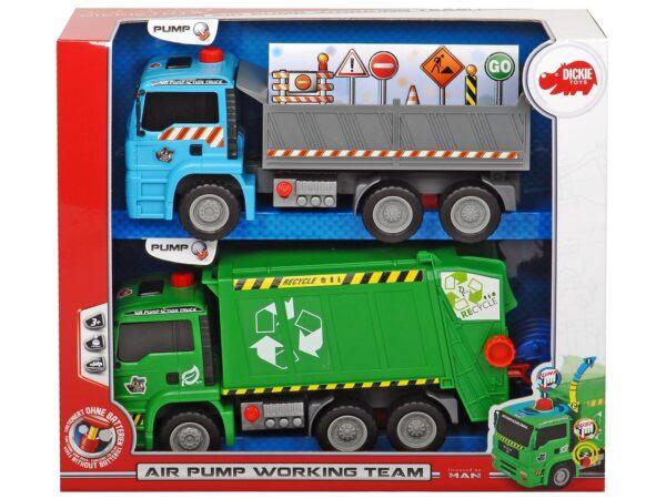 Set 2 veicoli da lavoro - Camion e autocarri - Veicoli e piste giocattolo - Giocattoli MOTOR&CO Maschio 12-36 Mesi, 3-5 Anni ALTRI