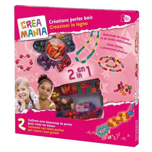 CREAZIONI DI PERLE IN LEGNO - Creamania Girl - Toys Center - CREAMANIA GIRL - Kit artistici e pittura