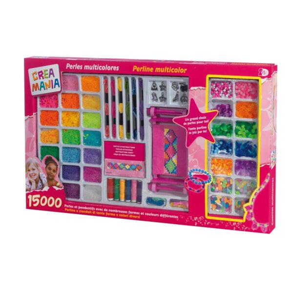 15000 PERLINE CON TELAIO - Giocattoli Toys Center CREAMANIA GIRL Femmina 3-5 Anni, 5-8 Anni ALTRI