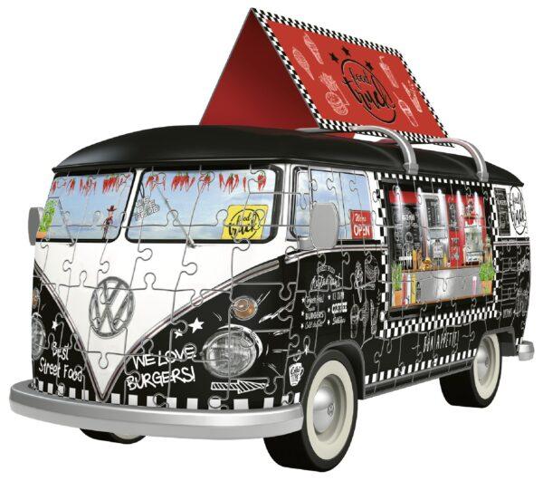 Pullmino Food Truck - Puzzle 3D Veicoli Ravensburger ALTRI Unisex 12+ Anni, 8-12 Anni RAVENSBURGER PUZZLE 3D