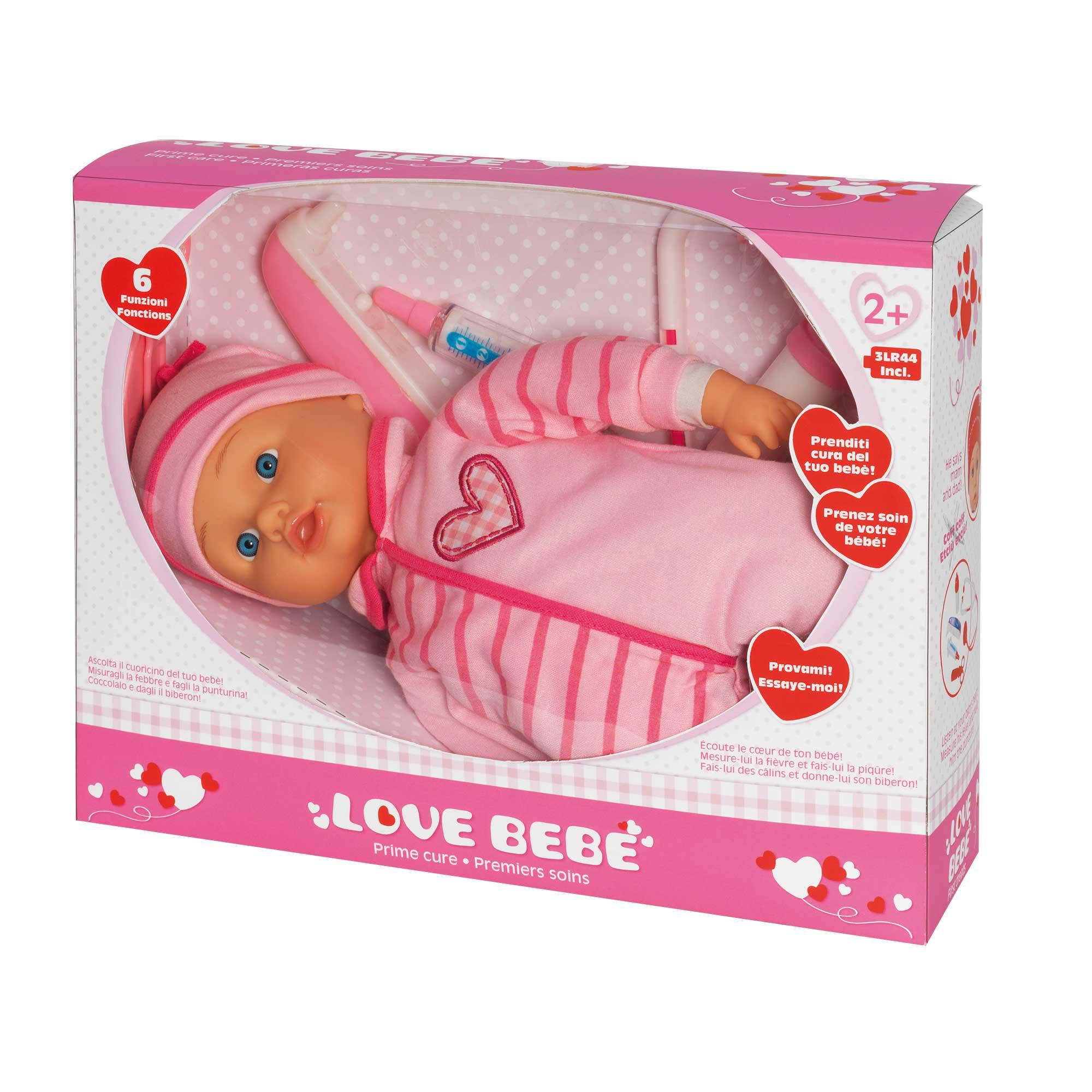 Bebe' prime cure - bambola con set dottore - LOVE BEBÈ