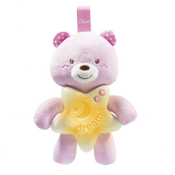 GOODNIGHT BEAR ROSA - Chicco - Toys Center Chicco Femmina 0-12 Mesi, 12-36 Mesi, 12+ Anni ALTRI