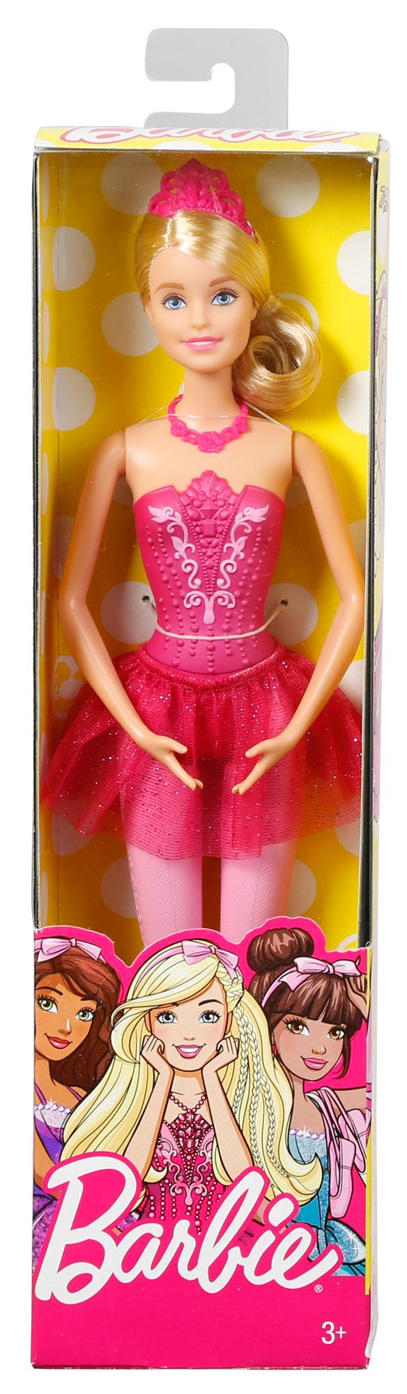 Barbie Fairytale - Bambola Ballerina, Abito Rosa, Bionda 12-36 Mesi, 12+ Anni, 8-12 Anni Femmina Barbie ALTRI
