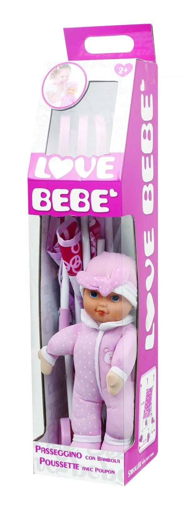 Passeggino in metallo con bambola soft ALTRI Femmina 0-2 Anni, 12-36 Mesi, 3-4 Anni, 3-5 Anni, 5-8 Anni, 8-12 Anni LOVE BEBÈ