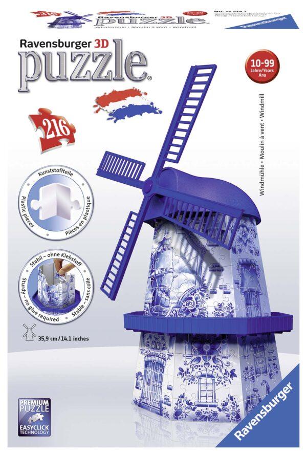 3D Puzzle Building - Mulino Olandese - Altro - Toys Center ALTRO Unisex 12+ Anni, 8-12 Anni ALTRI