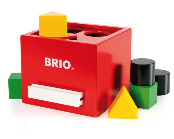 BRIO scatola per classificare rossa ALTRI Unisex 0-12 Mesi, 0-2 Anni, 12-36 Mesi BRIO