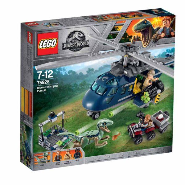 75928 - Inseguimento sull'elicottero di Blue - LEGO JURASSIC WORLD - LEGO - Marche ALTRO Unisex 12+ Anni, 5-8 Anni, 8-12 Anni JURASSIC WORLD