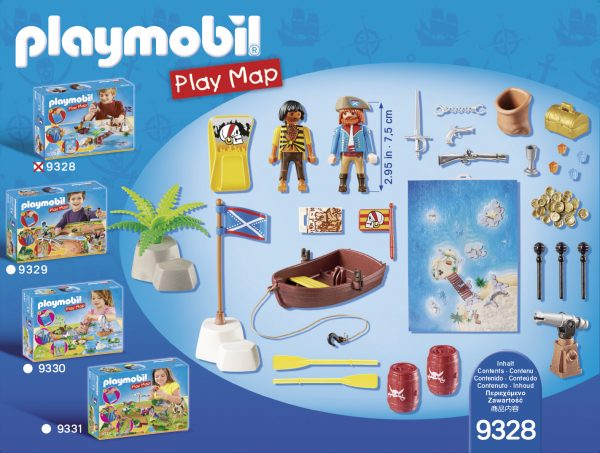PLAY MAP - IL TESORO DEI PIRATI ALTRI Maschio 12+ Anni, 3-5 Anni, 5-8 Anni, 8-12 Anni PLAYMOBIL - PLAY MAP
