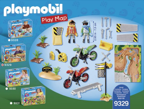 PLAY MAP - GARA DI MOTOCROSS - PLAYMOBIL - PLAY MAP - Altri giochi per l'infanzia